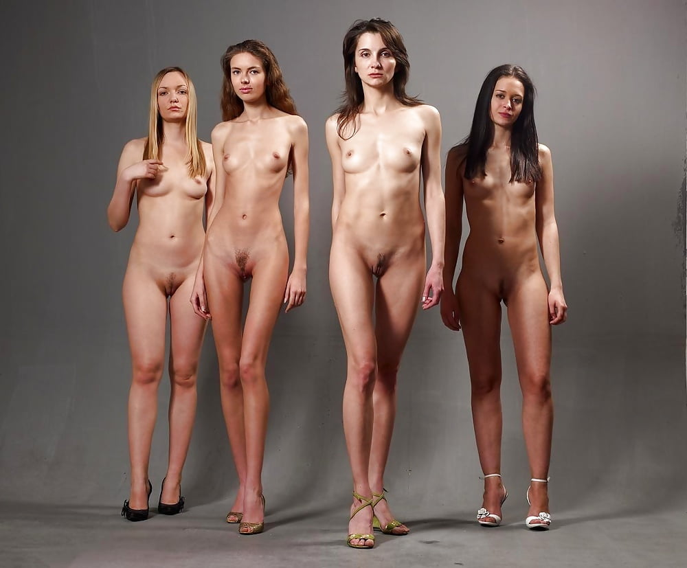 Many women posing nude together