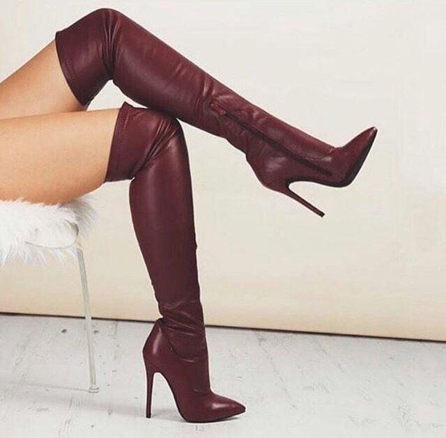 Tights and over the knee boots