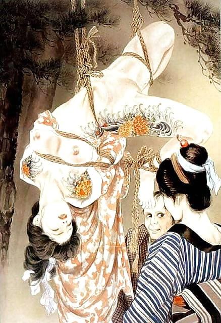 Clementine poulain atada por mr cannit en show shibari - 1 part 7