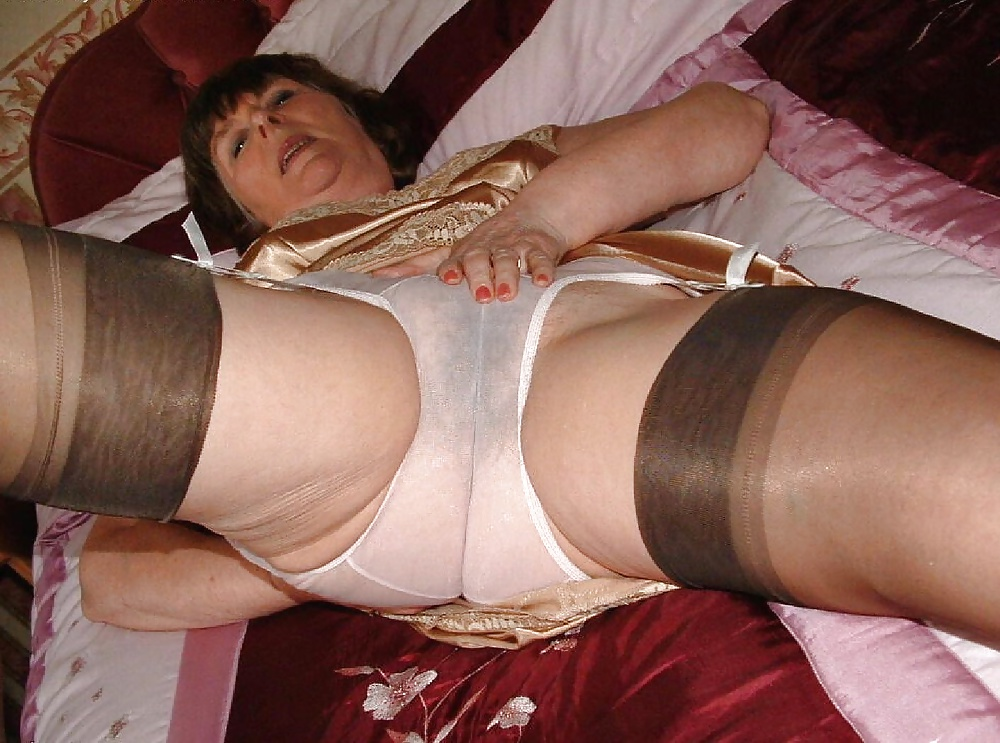 Mature granny in girdles