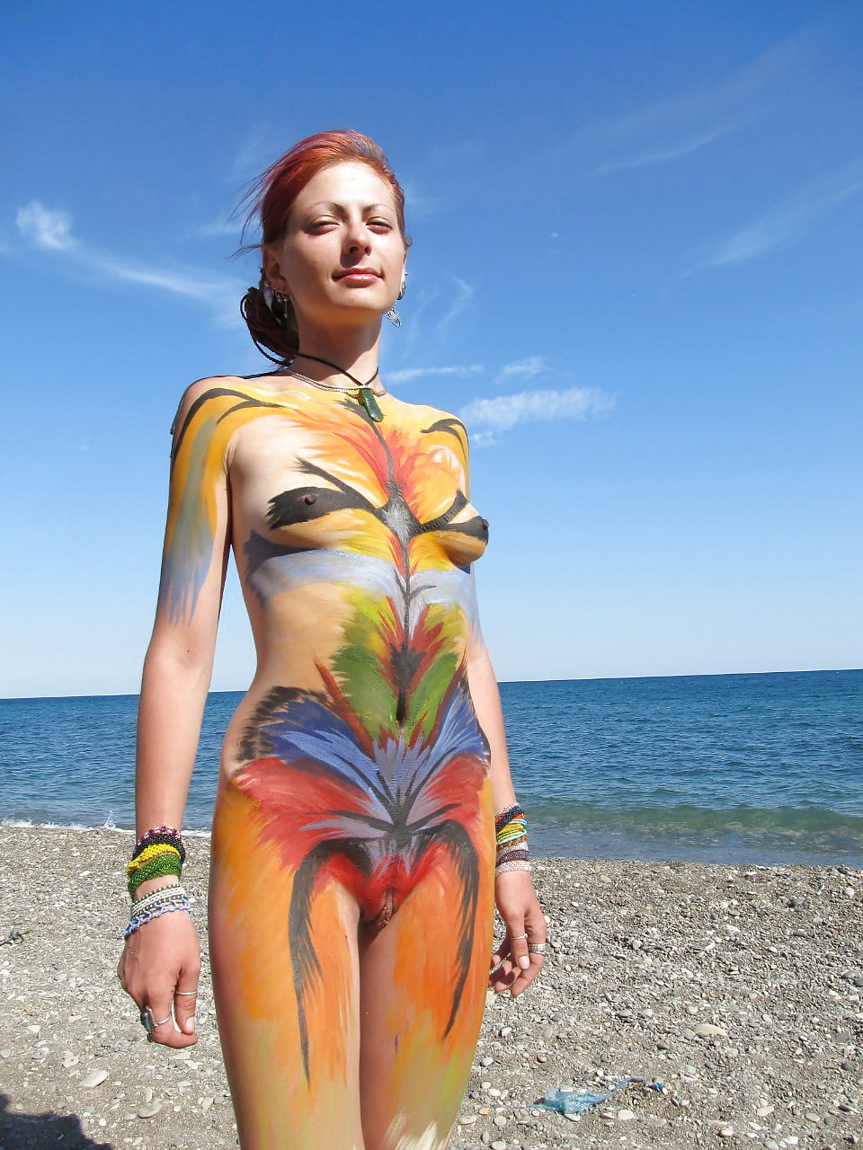 beach-nude-body-paint-naked-mature-plump-girls
