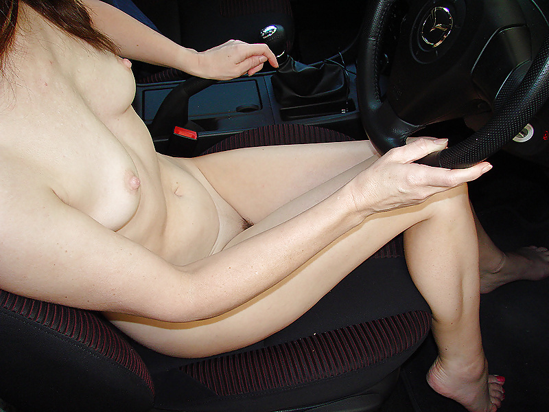 Pics driving nude