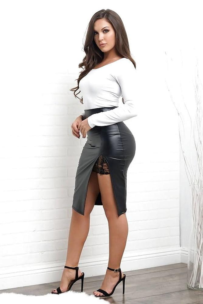 Bianca Anchieta Dresses Short Leather Skirt Mesh Tops Sexy Legs Women Youramateurporn 1