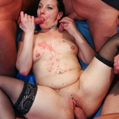 Squirting Queen Sprinkles All The Guys At GroupBanged