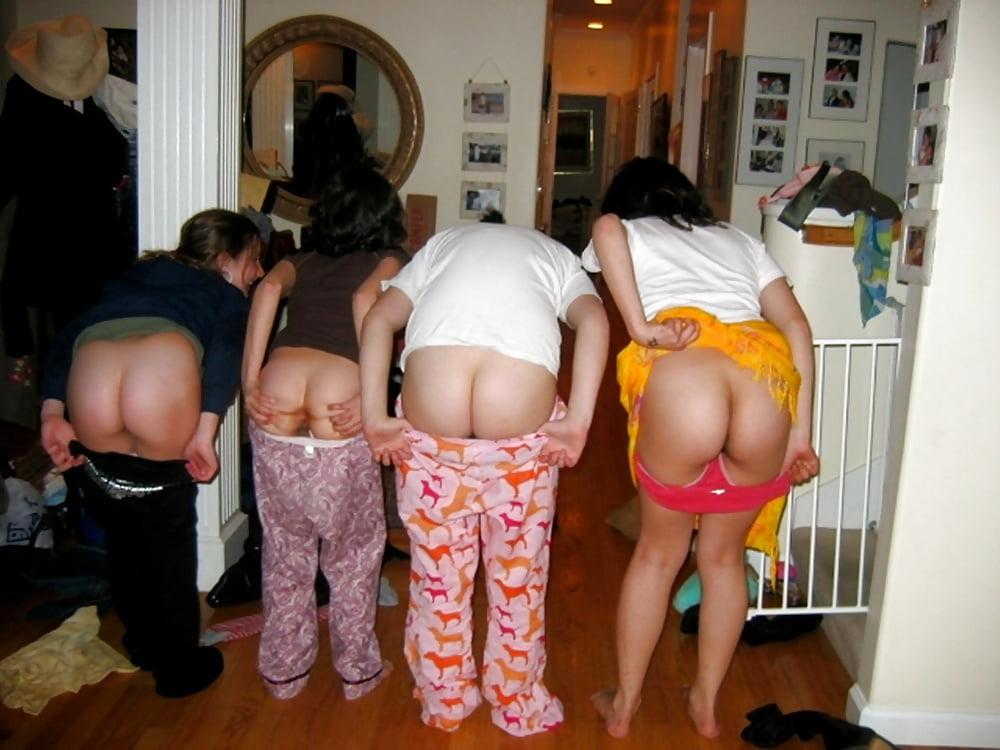 Girls Mooning