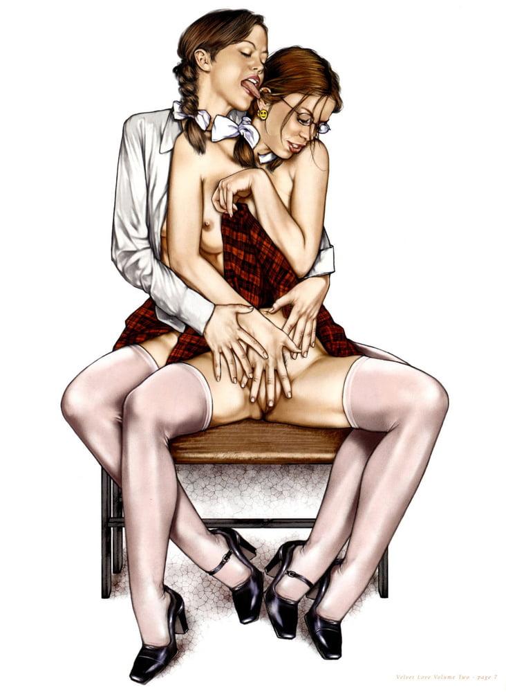 Рисунки лесби порно