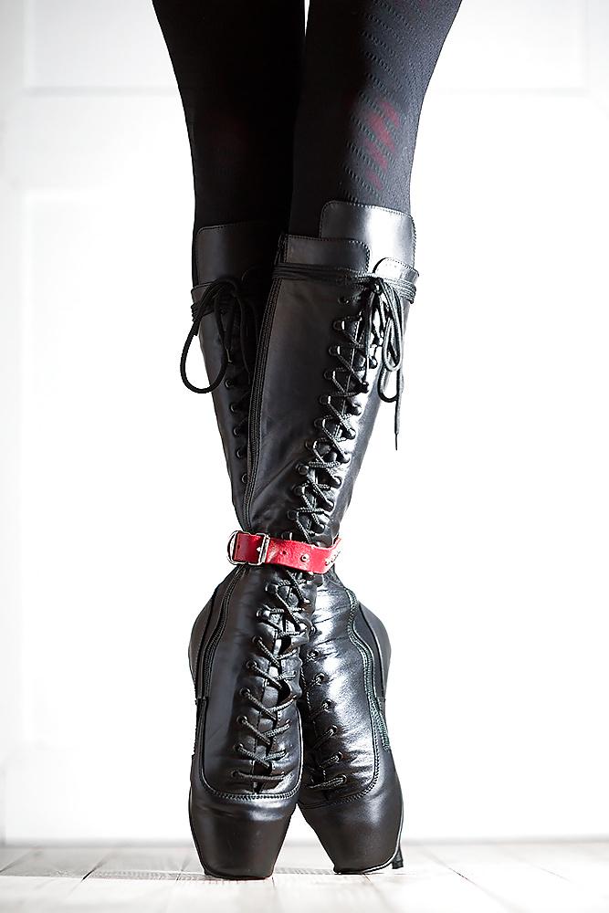 Ballet shoes corsets video bondage