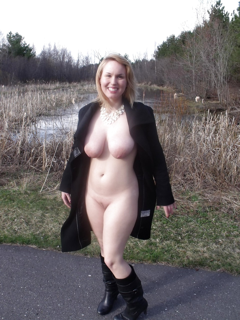 Topless Nude Trench Coat HD