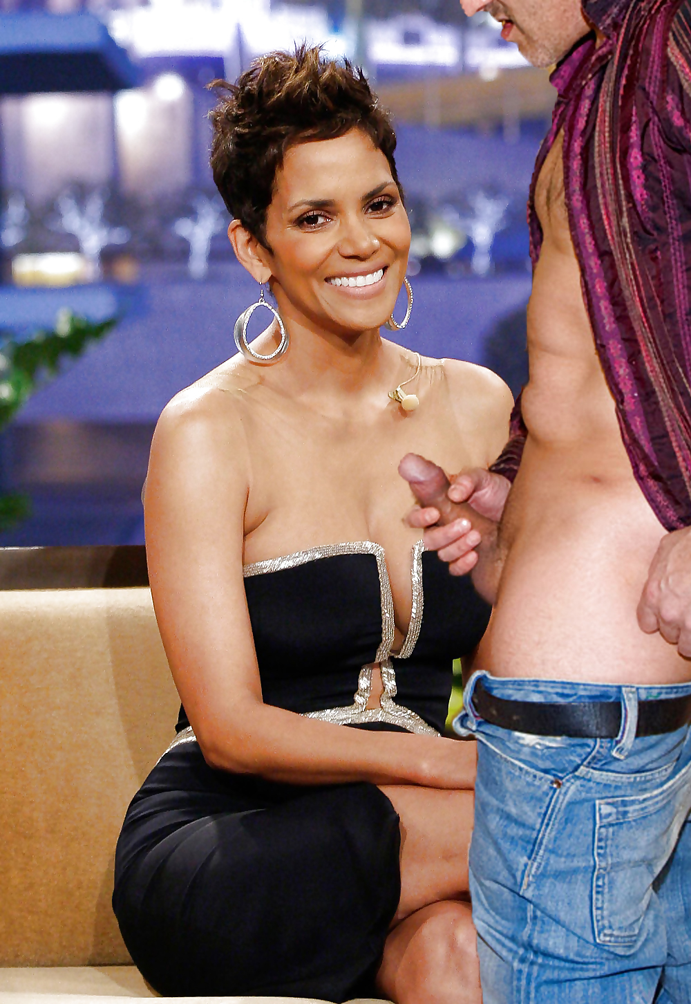Halle berry cum covered