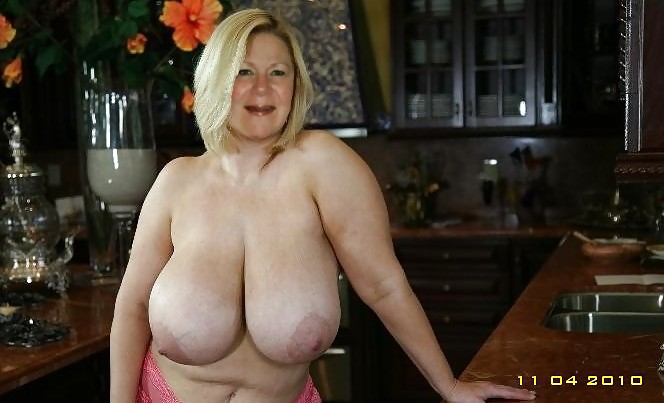 Huge Saggy Granny Boobs