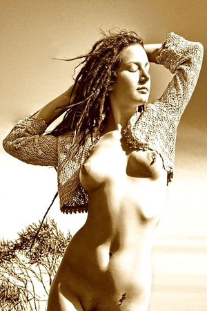 hippie hairy girl nude natural