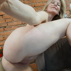 Blonde MILF Loves Trying Out Various Stockings