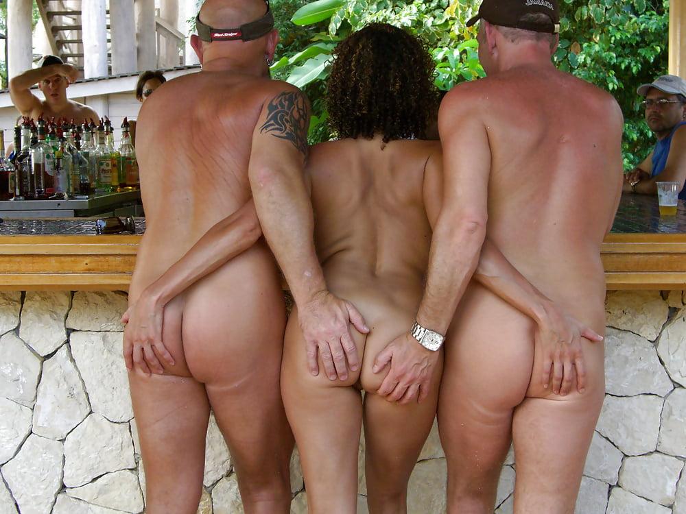Nudist beaches enjoying swinger sex
