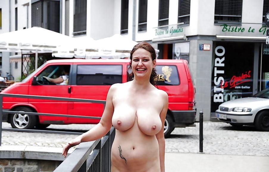 Big boobs public nudity tgp