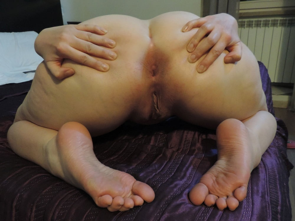 Fat white booty anal
