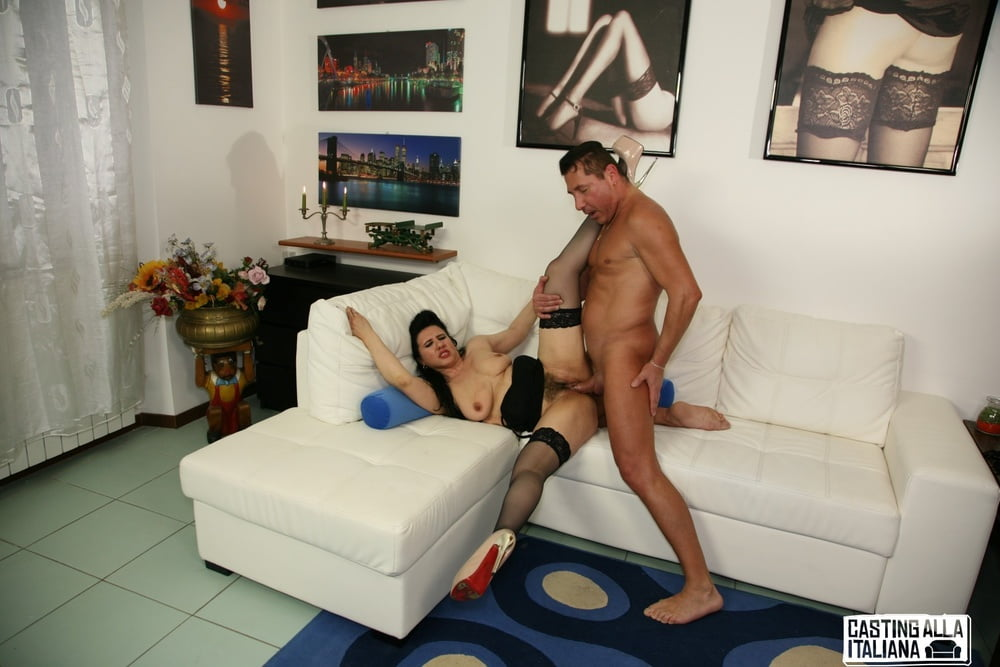 Saggy Tits Italian Mature Gets Her Hairy Pussy Banged Hard