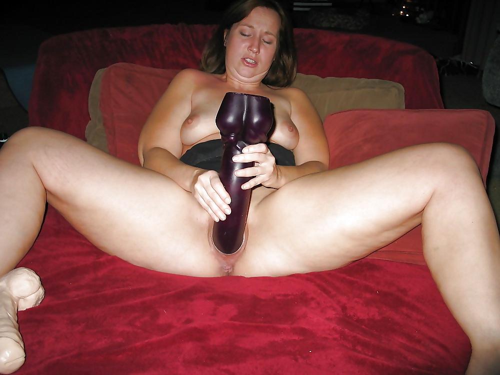 Giant dildo for my slut wife