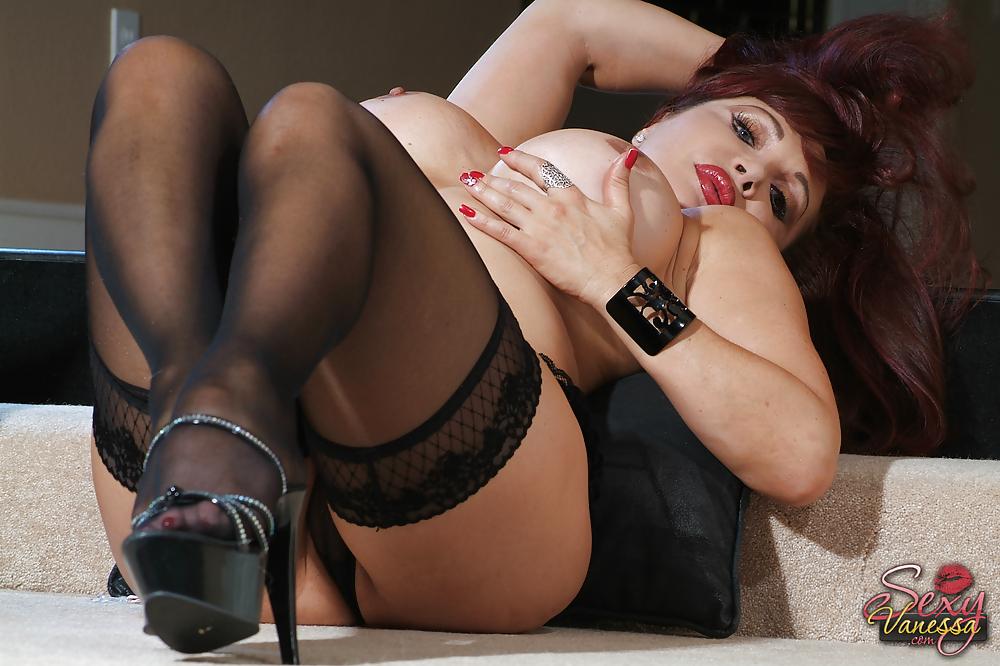 Blonde British Mature Milf Stockings
