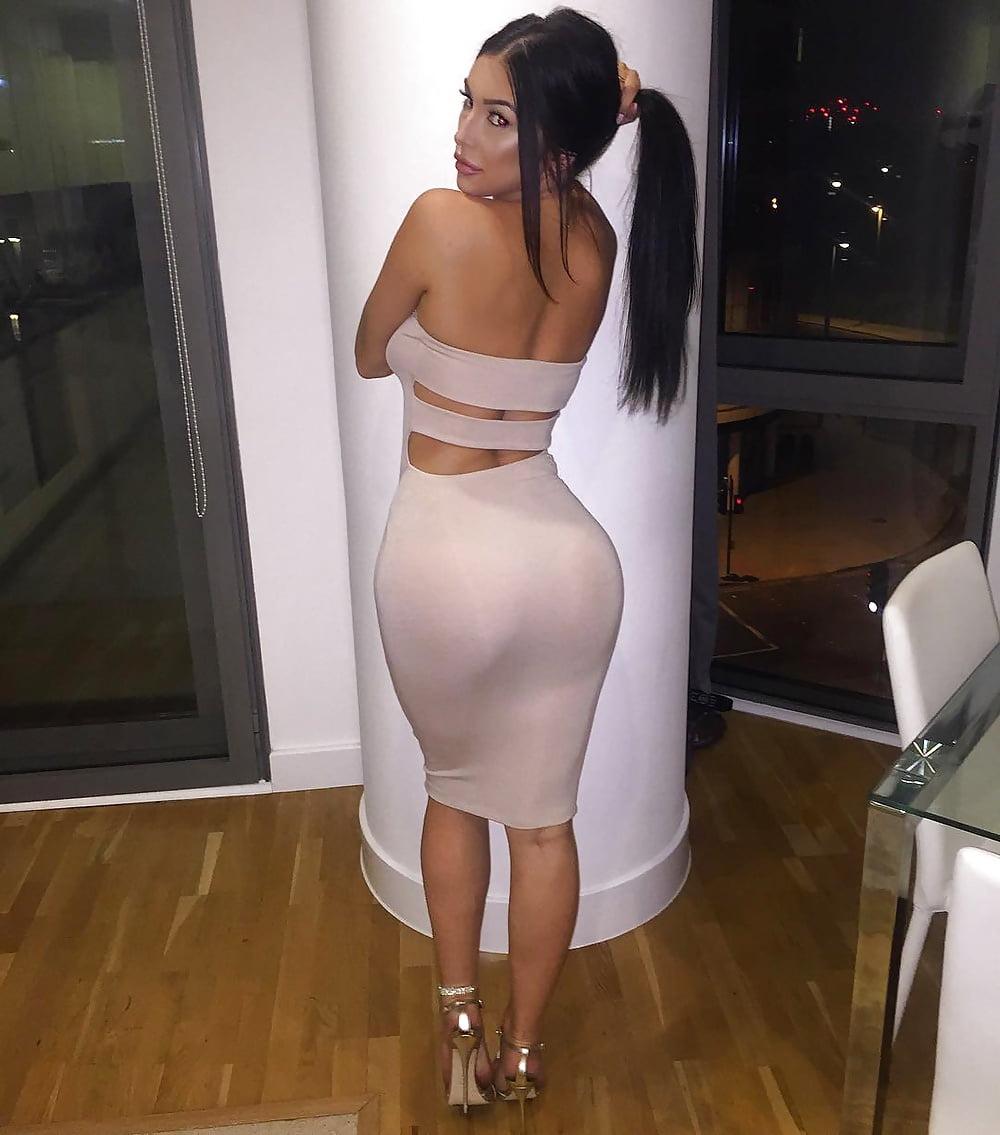 Sexy Woman Ass Black Image Photo