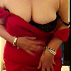 Granny with Big tits, hot ass, red dress
