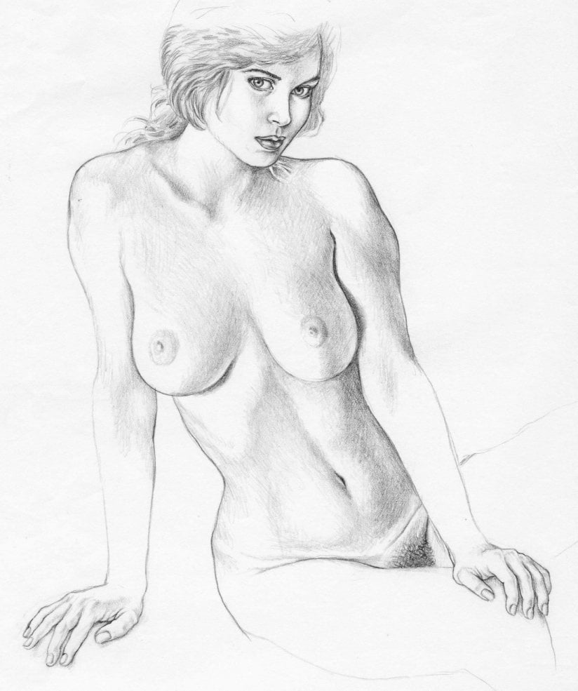 Naked girl pussy drawings 8