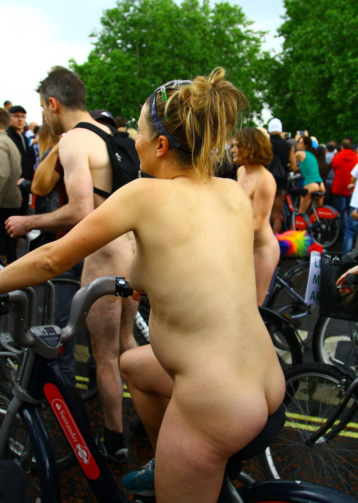 Pity, that very pregnant nude on bike
