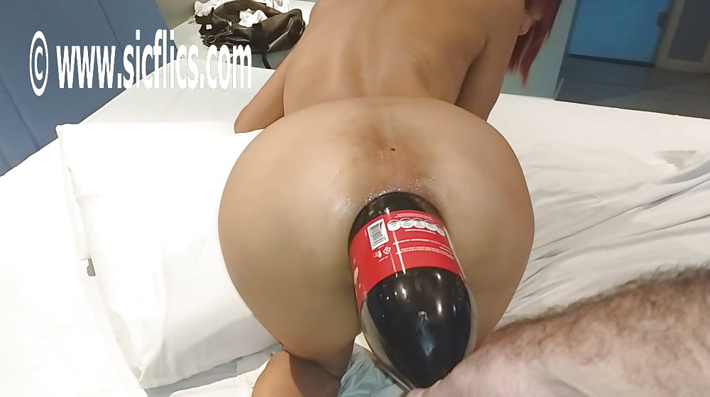 Butt fucked by objects #2