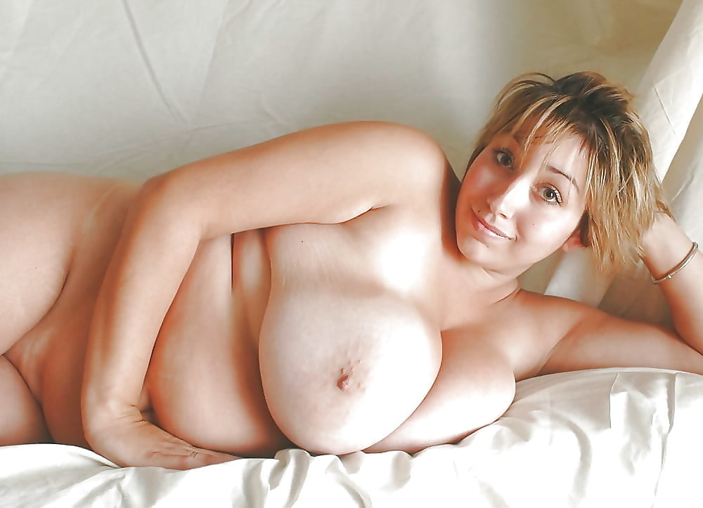 Chubby blonde small tits