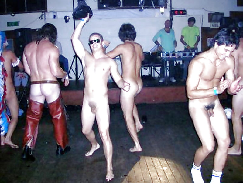 Male Naked Pool Party