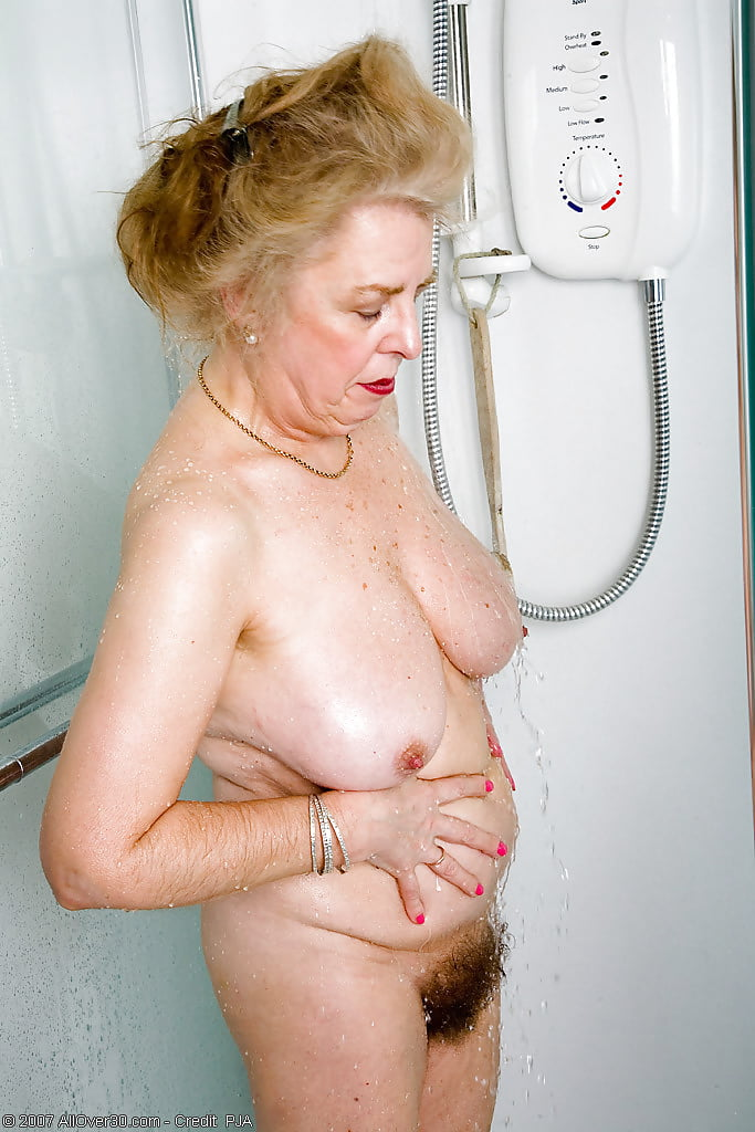 Hot granny shower