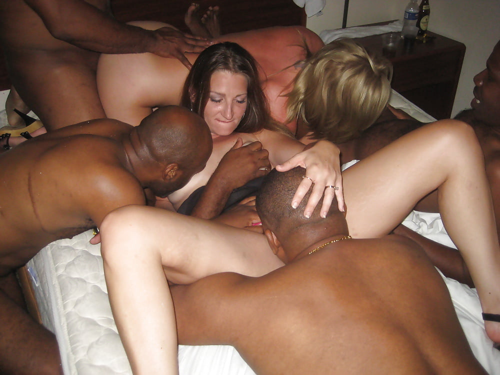 White wives interracial party