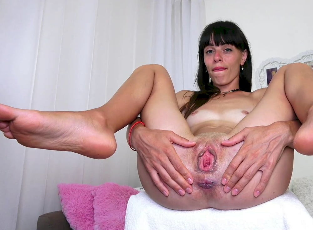 Milf getting her pink pussy stretched out by huge black cock