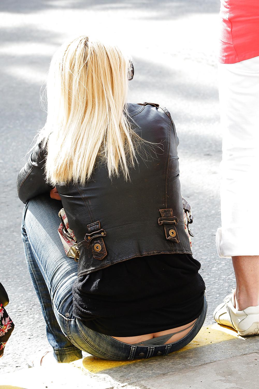 Woman ass crack