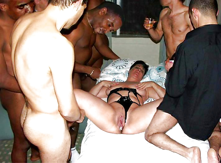 Granny gangbang abused — 7