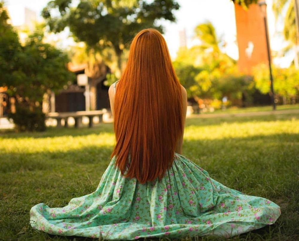 Sexy long hair babes