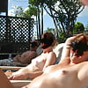 My friends on nude beach and resort