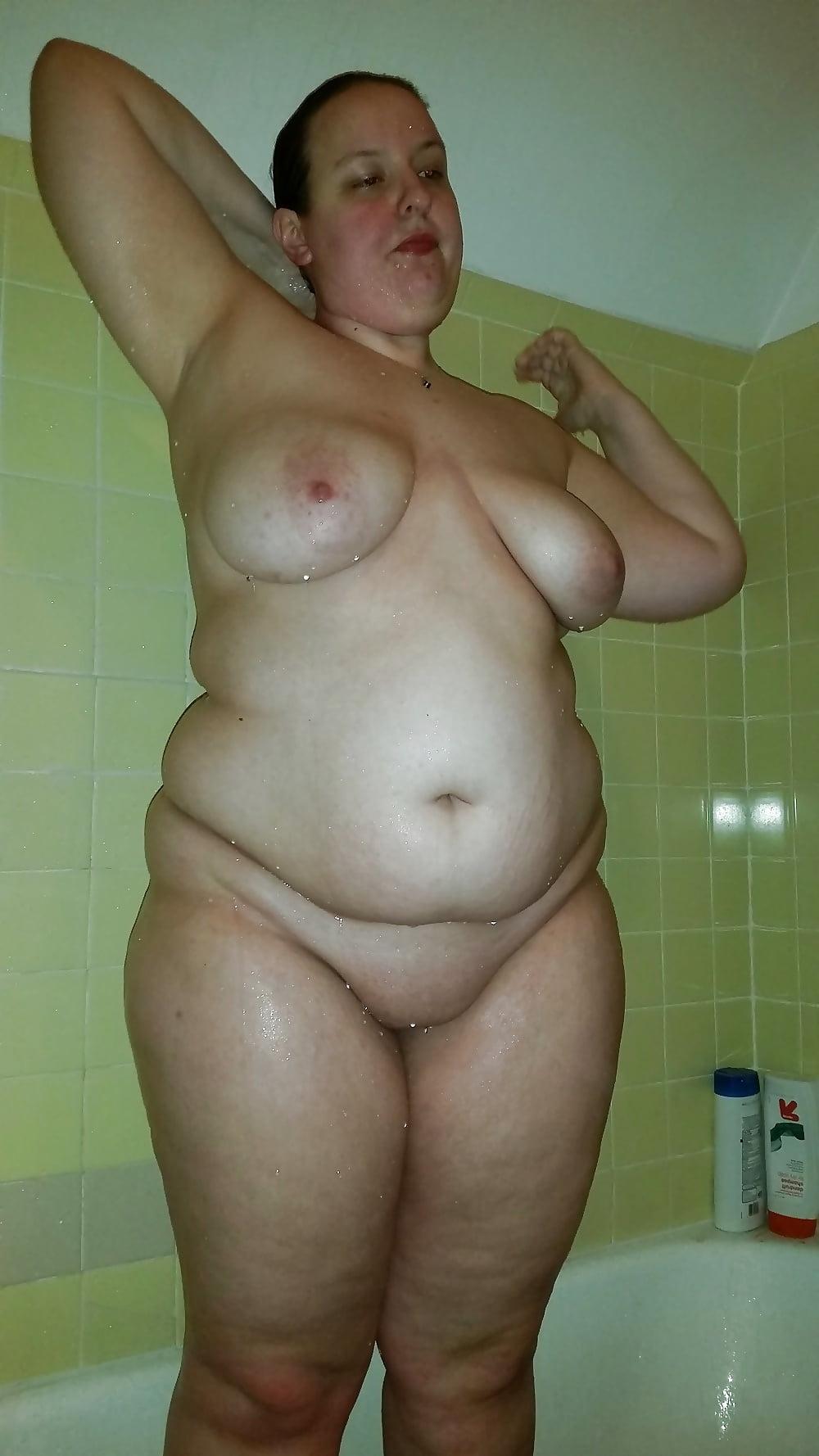 Busty bbw shower
