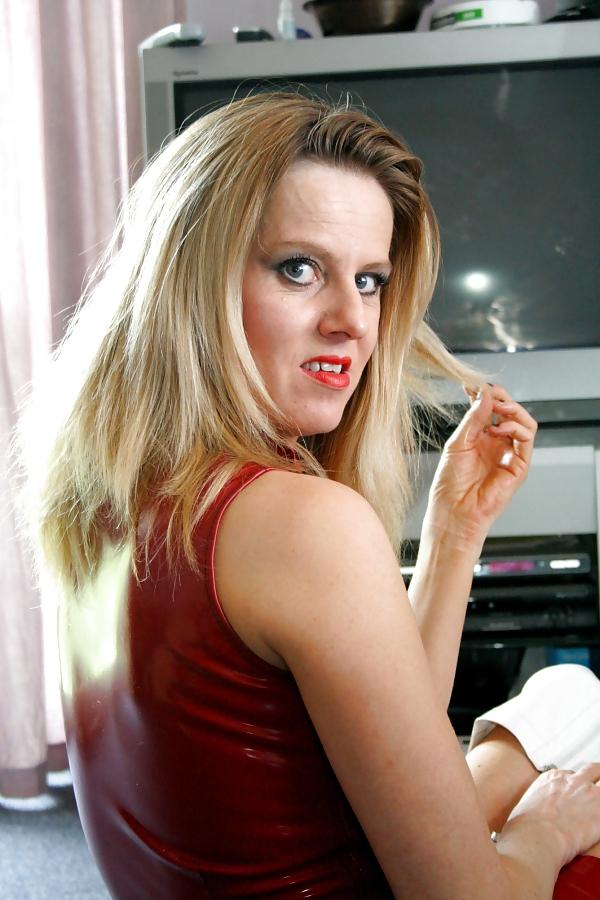 Nasty british slut getting a facial