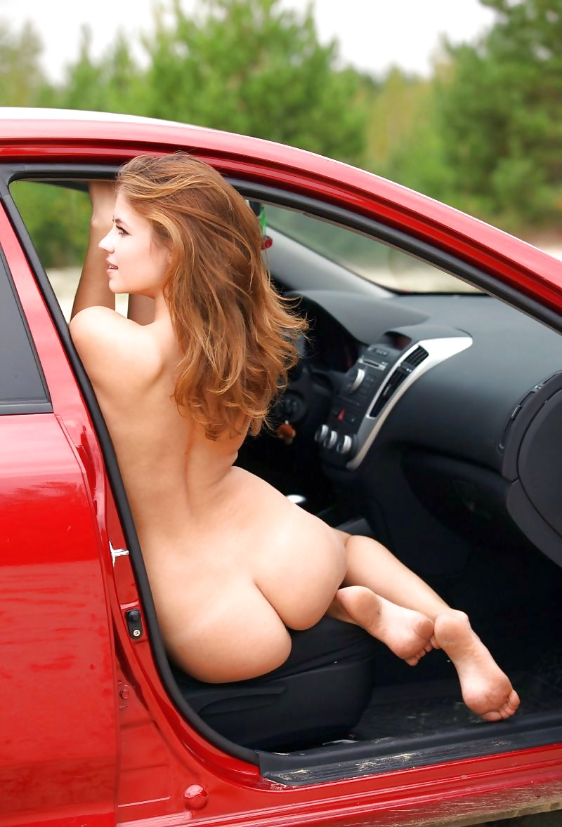 Hot Girl Washing Car Half Naked In The Sun Sexy