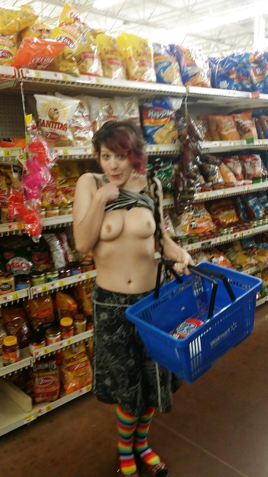 Girls flashing at walmart