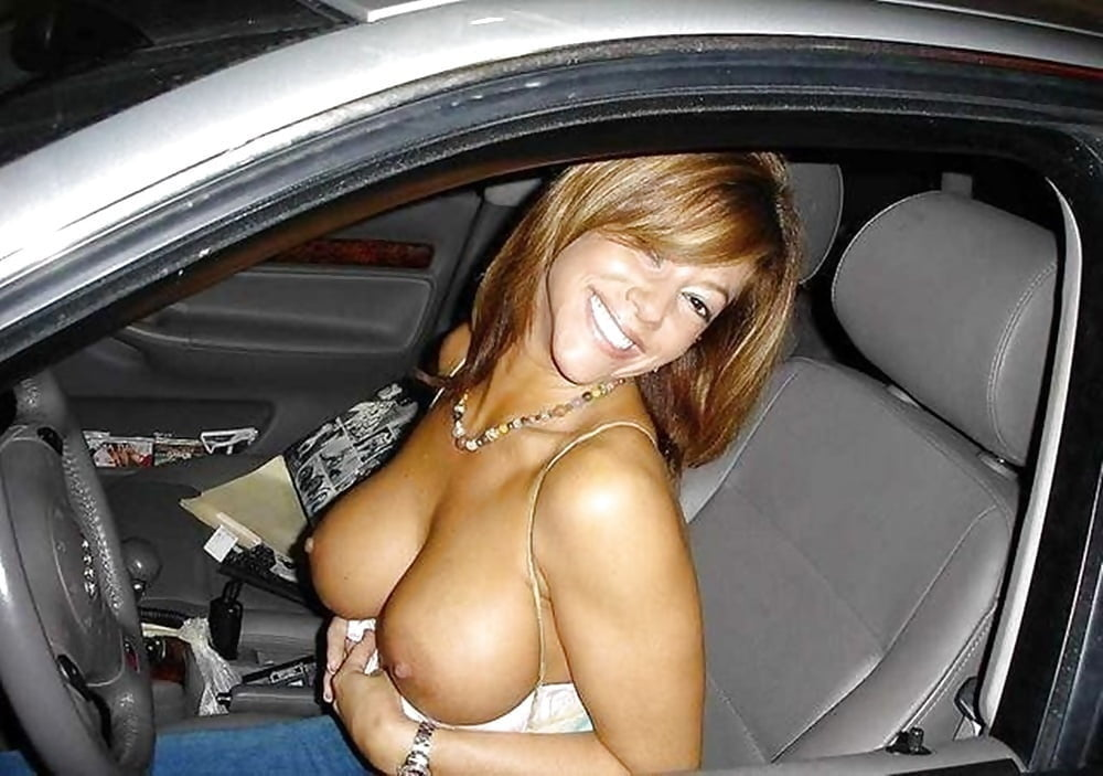 Teen With Big Boobs Fucked And Cummed In Car Pov