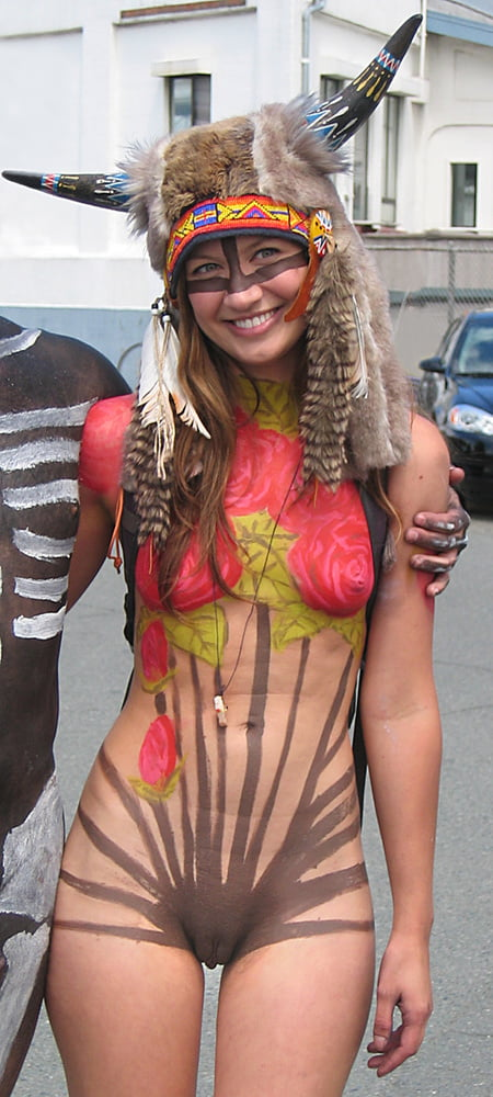 Naked ladys with body paint
