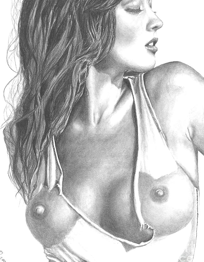 Black and white nude drawings