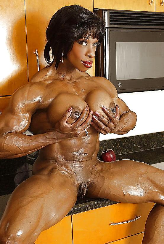 Masked female bodybuilder sucks cock takes a load