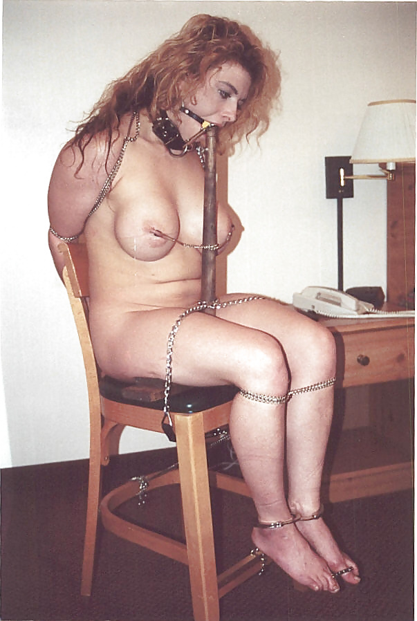 up to a chair tied Girls