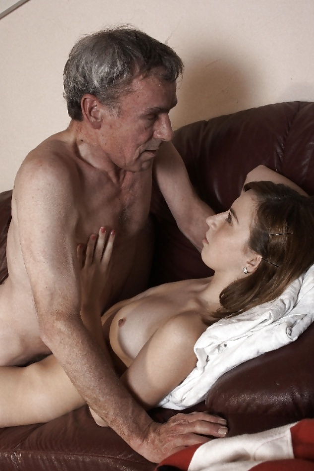Young girls with old men having oral sex
