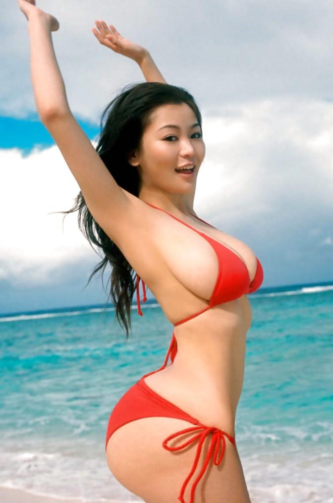 Asian model xena kai lansangan photo filipino busty bare belly bikini tight body