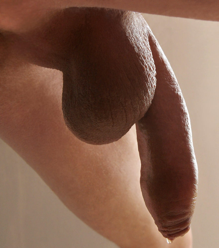 Nude Guy With A Huge Uncut Penis