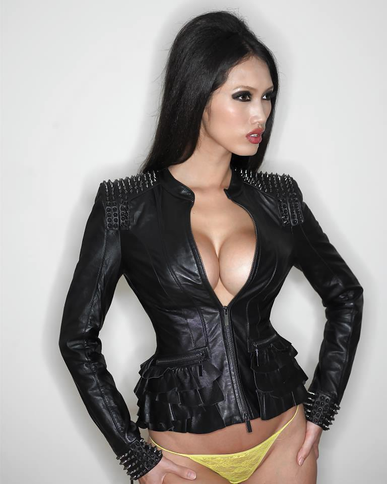 Hot male porn leather jacket