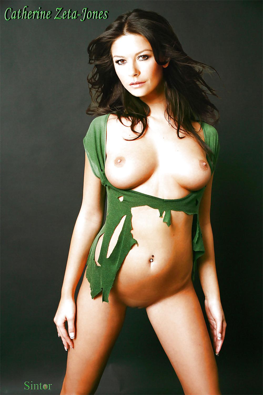 Catherine zeta jones shows a tit